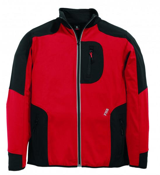 RALF Jersey-Fleece-Jacke FHB Fastdry, rot-schwarz