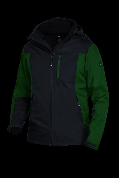 JANNIK Softshelljacke, grün-schwarz