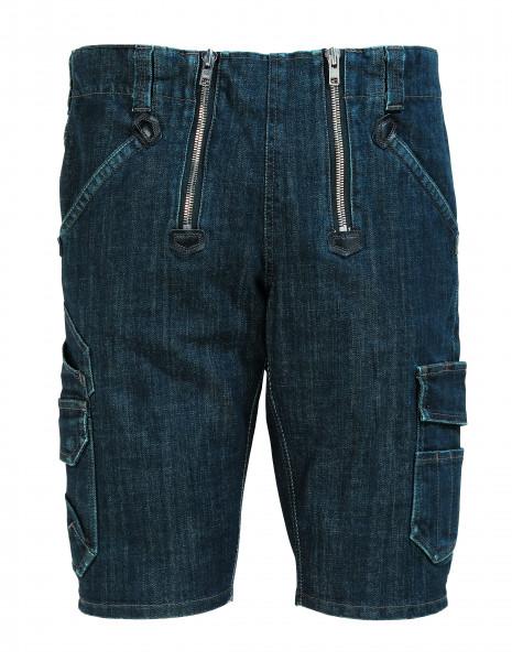 FHB VOLKMAR Stretch-Jeans-Zunft-Bermuda, schwarzblau