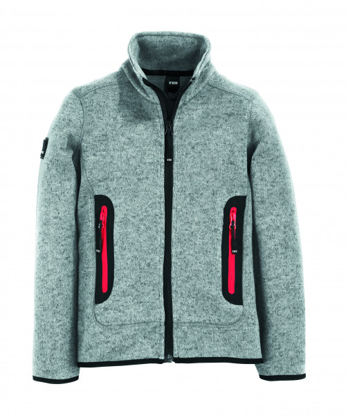 MATS Strick-Fleece-Jacke Kinder, grau