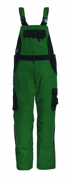 ECKHARD Latzhose Twill, grün-schwarz