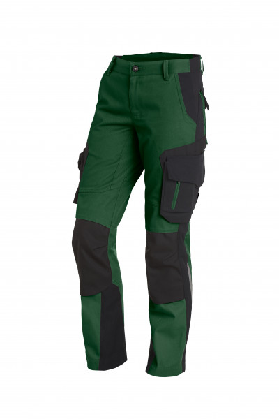 ALMA Damen-Arbeitshose, grün-schwarz