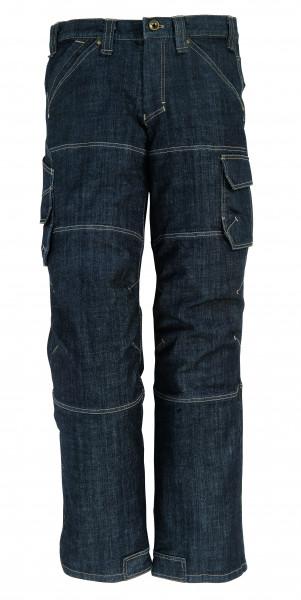 WILHELM Stretch-Jeans Arbeitshose, schwarz-blau