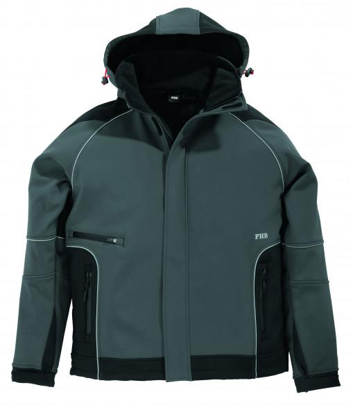 WALTER Softshell-Jacke, grau-schwarz