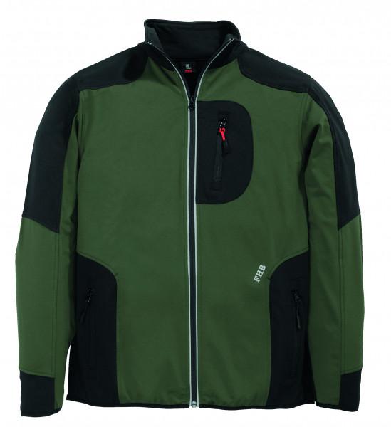 RALF Jersey-Fleece-Jacke FHB Fastdry, oliv-schwarz