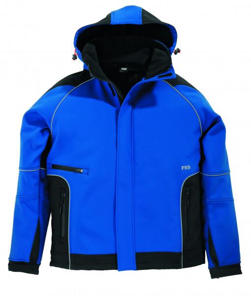 WALTER Softshell-Jacke, royalblau-schwarz