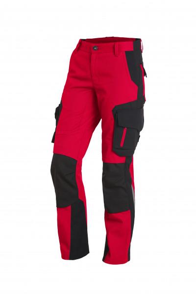 ALMA Damen-Arbeitshose, rot-schwarz