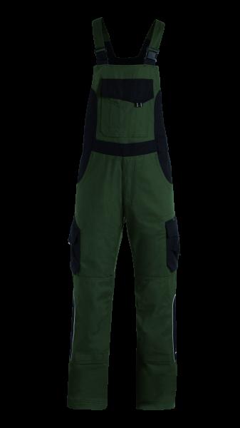 ECKHARD Latzhose Twill, oliv-schwarz