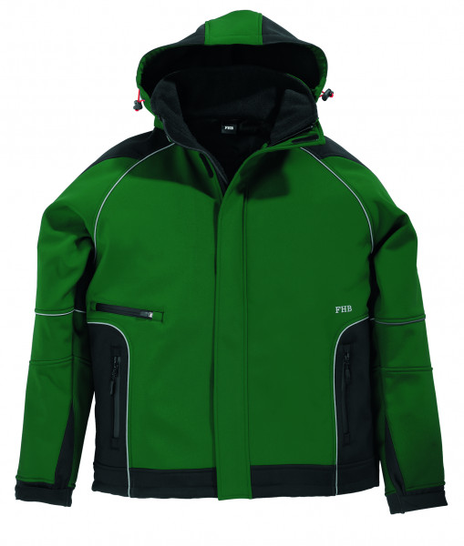 WALTER Softshell-Jacke, grün-schwarz